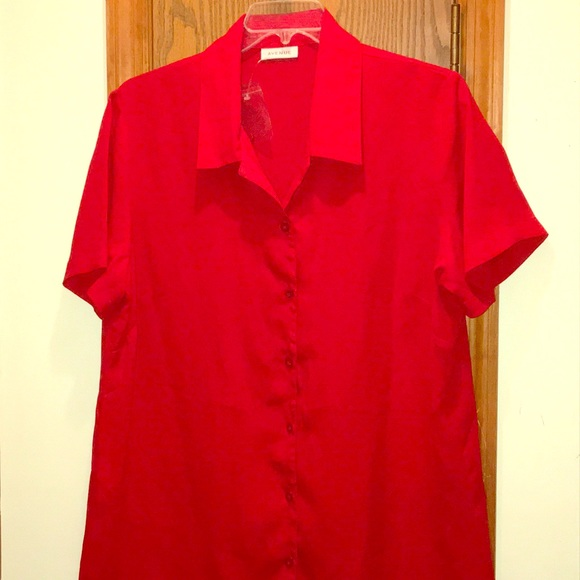 236fbc2b Avenue Tops   Womens Short Sleeved Red Blouse Lady In Red   Poshmark